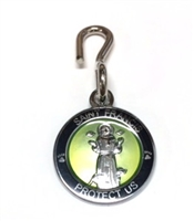 Saint Francis Black/Green Enamel Pet Medal