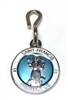Saint Francis White/Light Blue Enamel Pet Medal