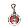 Saint Francis White/Red Enamel Pet Medal