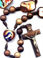 Stations Cord Wood Rosary