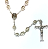 Italian Double Capped Crystal Bead Rosary R774CR