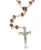 Italian Double Capped Ruby Rosary R774RU