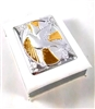 White Silver-Plated Confirmation Box with Rosary