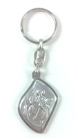 Italian Made Silver Plated Saint Christopher Keychain  FISID11