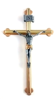 "8"" Tutone Crucifix with Oriental Edges"