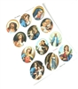 Medium Size Oval Religious Sticker Sheet GRH502