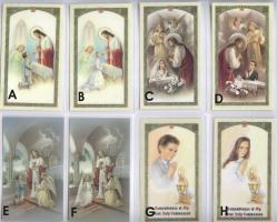 First Communion Holy Cards