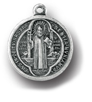 Saint Benedict Silver Medal 1076