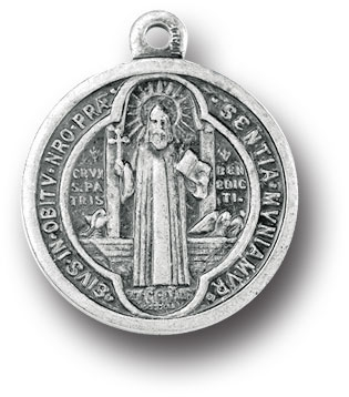 Saint Benedict Large Silver Medal 1078