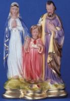 "The Holy Family - 12"" Italian Plaster, Catholic Religious Statue"