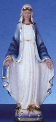 "Our Lady of Grace - 12"" Italian Plaster, Catholic Statue"