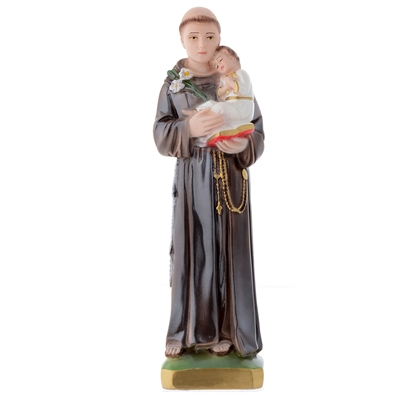 "12"" saint Anthony Italian Chalk Pearlized Statue"