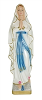 "12"" Our Lady of Lourdes Italian Chalk Pearlized Statue"