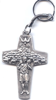 Pope Francis Papal Cross Keychain