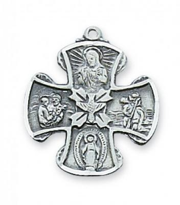 Four-Way Catholic Saint Medal