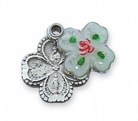 Slider Four-way Saint Medal with Embossed Enamel