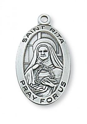 Saint Rita, Patron of  Impossible Cases,  Sterling Silver Pendant