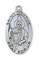 Choose a 2.7cm Oval Sterling Silver Medal of Your Favorite Patron Saint