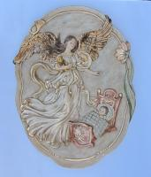 Large Medallion Guardian Angel Plaque