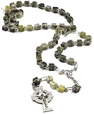 Irish Connemara Marble Celtic Rosary