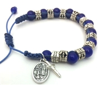 Blue Our Lady of Lourdes Bracelet