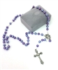 Purple  Pearl Bead Rosary