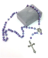 Lavender Pearl Bead Rosary