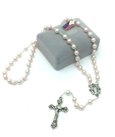 Pink Pearl Class Bead Rosary