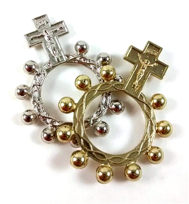 Crucifix Rosary Finger Ring