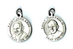 Dual  Medal of St. Pope John Paul II and St. Pope John XXIII