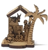 Miniature Wood Nativity Set