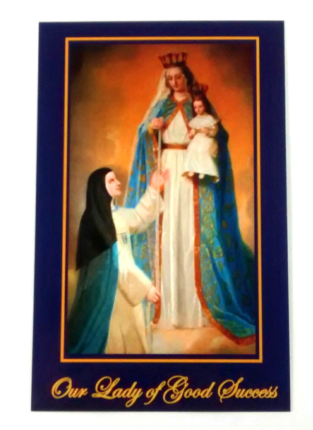 Our Good Life Top Ten Rainbow Cupcakes: Our Lady Of Good Success Blue Holy Card