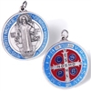 Saint Benedict Large Red/Blue Medal