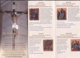 The Stations of the Cross from the Holy Land pamphlet