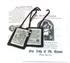 100% WOOL BROWN SCAPULAR WITH MEDALS AND PAMPHLET PL877BE