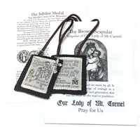100% Wool Brown Scapular