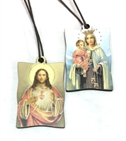 Our Lady of Mount Carmel and the Sacred Heart of Jesus Brown Scapular