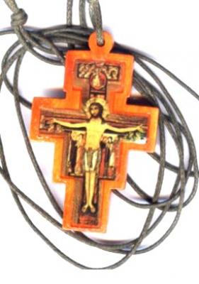 San Damiano Cross on Cord