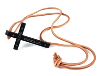 "Altar Server Black Wood Cross with 30"" Leather Cord BK-P8846-PB"