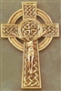 "8""  Fine Pewter Golf Finished Knotted Celtic Crucifix JC-9222-K"