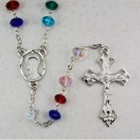 Multi-Color Genuine Glass Bead Rosary