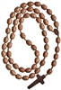 "Large 37"" Rosary Jujube Wood 20mm Beads"