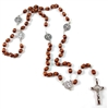 Saint Benedict Brown Bead Rosary