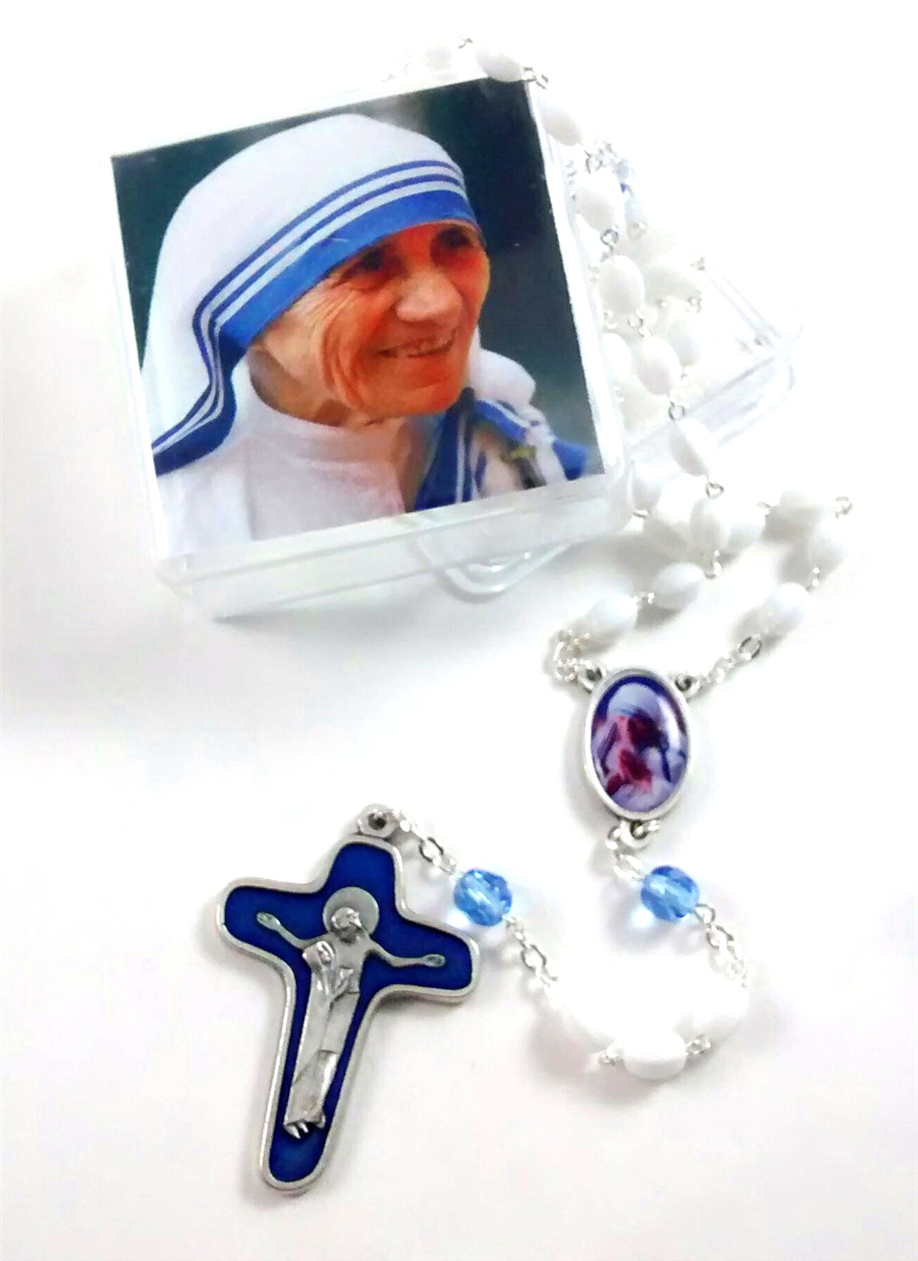Mother Teresa Rosary With Special Crucifix And Center