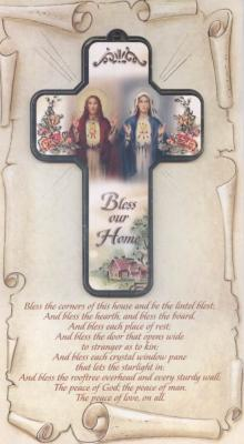 Bless Our Home Cross Plaque