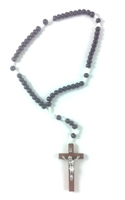 Dark Wood Bead Rosary 26-4926-02