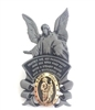 Guardian Angel with Gold Saint Jude Medal Visor Clip