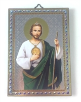 Italian Designed Saint Jude Wood Wall Plaque 47-300-JU