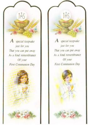 First Communion Paper Bookmarks