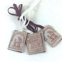 BEST VALUE! Brown Cloth Scapular